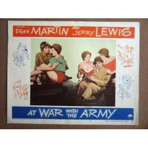 DV07 War With Army DEAN MARTIN/JERRY LEWIS Lobby Card