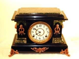 Stunning Antique Seth Thomas Adamantine Clock   Ideal Model   Circa