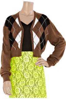 Christopher Kane Henna argyle cashmere cardigan   70% Off Now at THE