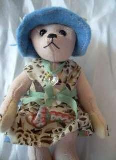 Artist Teddy ROOSEVELT BEAR Co Lil Girl OOAK miniature