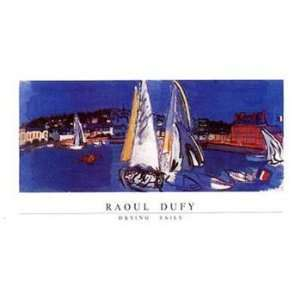 Drying Sails   Poster by Raoul Dufy (28x20) Home & Kitchen