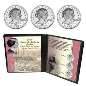 1979 Susan B. Anthony First Year of Issue Mint Mark Set