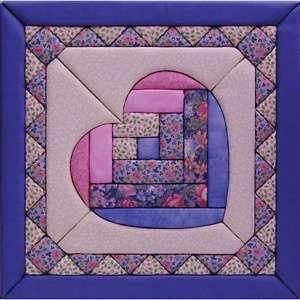 Quilt Magic No Sew Wall Hanging Kit   12 x 12 Heart