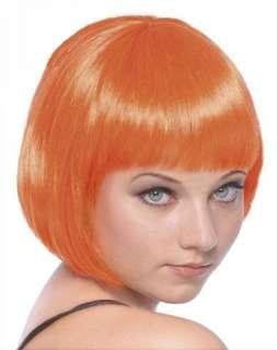Short Orange Bob Wig