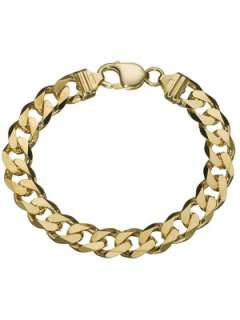 Carat 8.5 inch 1oz Solid Yellow Gold Mens Curb Bracelet Very.co.uk