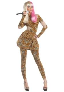 Classic Costumes Celebrity Costumes Leopard Rap Superstar Costume