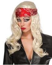 Lady Gaga Judas Video Wig & Bandana Adult