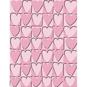 Cuttlebug A2 Embossing Folder  Heart Blocks