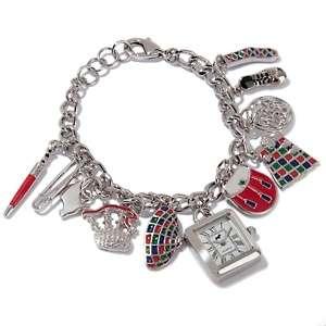 Jeffrey Banks Curb Link Watch Charm Bracelet