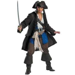Pirates of the Caribbean   Captain Jack Sparrow Prestige Adult Costume