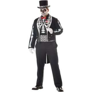 Halloween Costumes Day Of The Dead Groom Adult Plus Costume