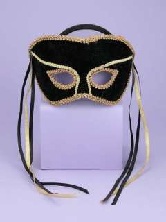 Must Have Accessory This handsom half mask is Black with Gold Trim