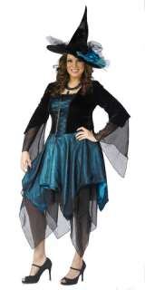 Includes iridescent teal and black velvet dress with hankerchief