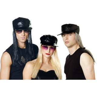 Biker Costume Hat with Hair   Motorcycle Costume Hats   15PM576330