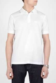 White Fine Pique Classic Fit Polo by Hugo Boss Black   White   Buy