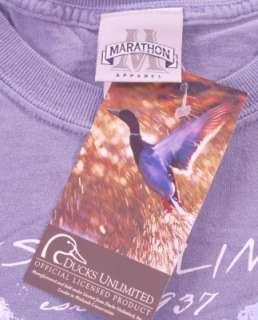 Ducks Unlimited T Shirt XL Hunting Dog Blue