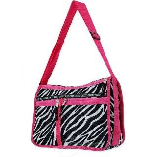 Track Black/ White/ Pink Zebra Messenger Bag Shoulder Bag 14 (JoyAve)