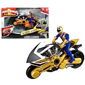 DISC CYCLE with 4 Inch Tall Gold Power Ranger Figure Toys & Games