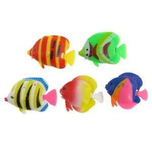 Multicolor Plastic Tropical Fish Aquarium Ornament Decor