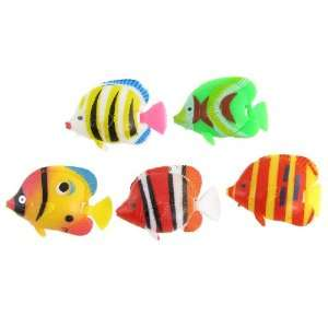 Plastic Tropical Fishes Ornament for Fish Tank: Pet Supplies