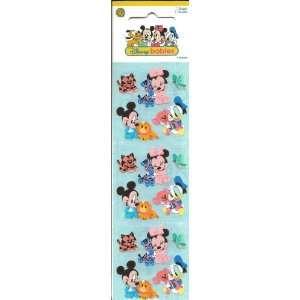 Disney Babies Mickey Minnie and Donald Scrapbook Stickers