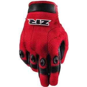 Shorty Mens Mesh Street Bike Racing Motorcycle Gloves   Red / Large