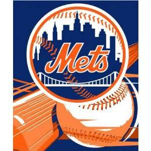 New York Mets 50x60 Big Stick Super Plush Throw
