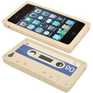 : Cbus Wireless brand Cream White Silicone Cassette Tape Case / Skin