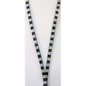 New Sparkling Black & Diamond Iridescent Check Rhinestone