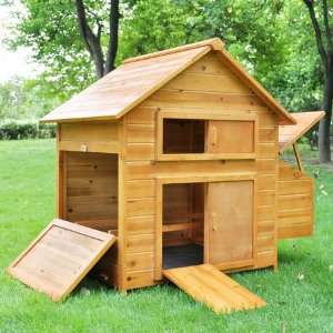 Backyard Poultry Coop Wooden Hen Chicken House: Patio