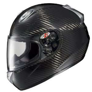 Rocket RKT101 Carbon Fiber Full Face Motorcycle Helmet Black Medium