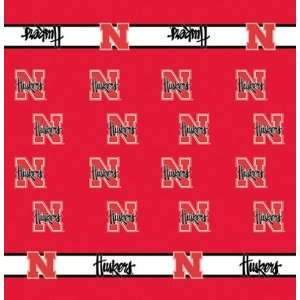 54 x 54 Collegiate Team Table Cloth Card Team Nebraska