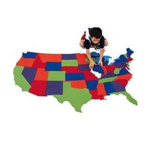 foot USA Map Puzzle, Area Rug And Play Mat