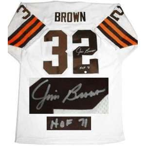 Jim Brown Cleveland Browns Autographed Home Jersey with