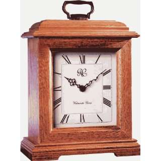Mantel Clock Carriage Style Oak Finish with Chimes Home
