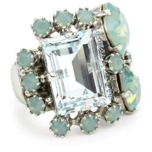 Otazu BDL Cluster of Pacific 0pal Crystal Adjustable Ring Jewelry