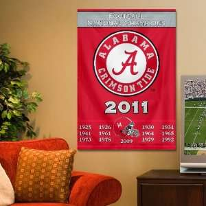 NCAA Alabama Crimson Tide 2011 BCS National Champions Crimson 14X