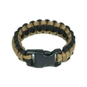 Mil Spec Cords Cobra Paracord Bracelet   Coyote / Black   7