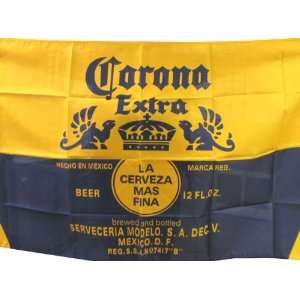 NEOPlex 3 x 5 Corona Extra Blue and Gold Beer Flag: Office Products