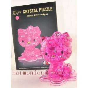 hello kitty 3d crystal puzzles 44pcs hello kitty building
