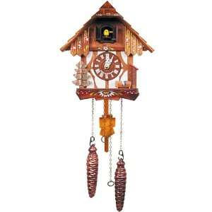 Battery Operated German Cuckoo Clock with Pine Tree Home & Kitchen