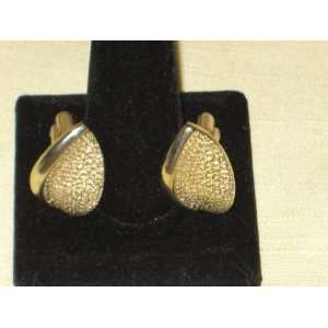 Vintage Textured Gold Tone Cuff Links