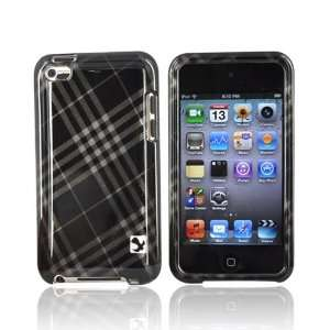 For Apple iPod Touch 4 Hard Case Cover Checker GRAY 4G
