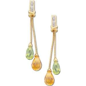 Gemstone Tear Drop Diamond Fashion Earrings Jewelry Days Jewelry