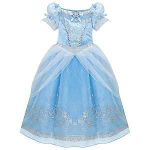 Disney Store Princess Cinderella Costume Ball Gown Dress