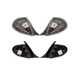 00 02 Dodge Neon Led Tail Light   Black/Clear (Pair