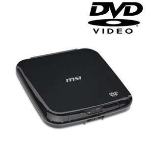 MSI External Slim USB 2.0 DVD ROM UO881 B (Black