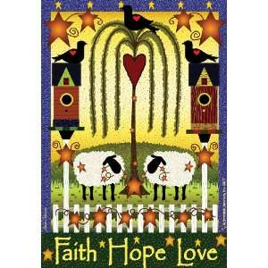 Junction Garden Flags, Faith, Hope, Love Arts, Crafts & Sewing