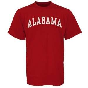 Alabama Crimson Tide Crimson Vertical Arch T shirt Sports