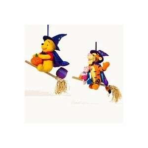 pooh & Tigger on Broom Halloween Plush set  Toys & Games
